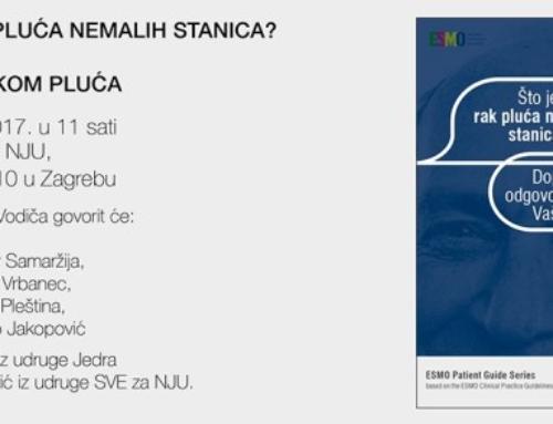 Predstavljanje ESMO vodiča za bolesnike ŠTO JE RAK PLUĆA NEMALIH STANICA? i priručnika ŽIVJETI S RAKOM PLUĆA 18.12.2017.